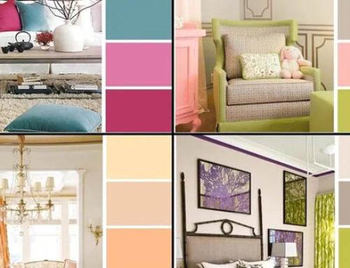 Сочетание цвета обоев и мебели